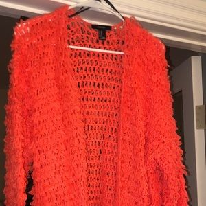 Forever 21 Longline Hand Knit Sweater